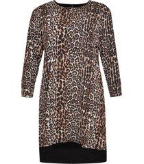 jurk lange achterkant leopard