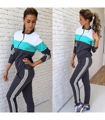 new vision street wear print women's tracksuits o neck sport suit set jogging su