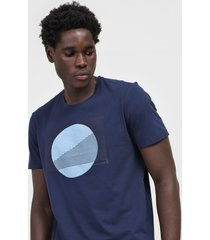camiseta aleatory textura azul-marinho