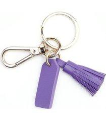 royce new york mini tassel key chain - purple