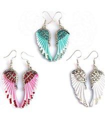 orecchini di donne carino orecchini ali angelo strass orecchini pendenti per le donne