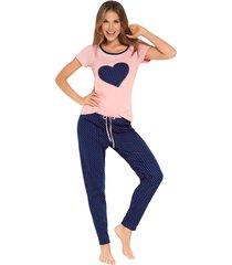 pijama camiseta manga corta y  pantalón largo fi pijamas