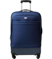 maleta mediana hibrido azul 24