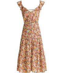 malgosia floral midi dress