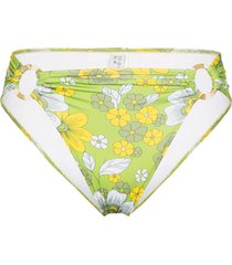 dodo bar or erica floral-print bikini bottoms - green