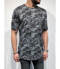hombres verano casual soft all over print t-shirt