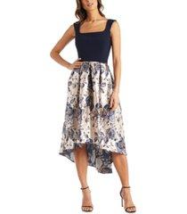 r & m richards petite floral fit & flare dress