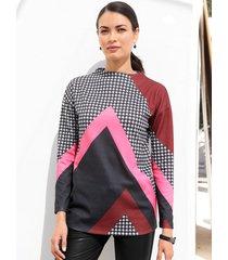 sweatshirt amy vermont wit::zwart::pink