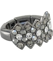 anel armazem rr bijoux cristais grafite