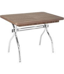 mesa fil flavia, elástica, cromada 150 cm