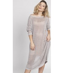 sukienka ażurowa szara