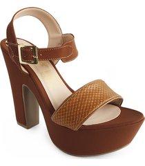 calzado dama tacon 7 1/2 miel 182754miel mujer