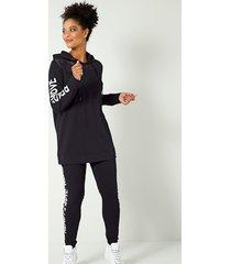 sweatshirt janet & joyce zwart::wit