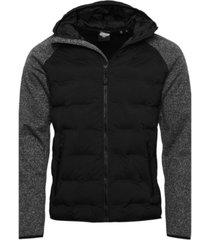 superdry men's sonic hybrid zip through jacket