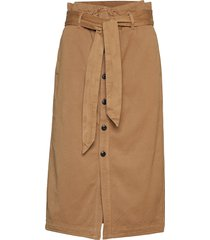high waisted skirt in drapy quality knälång kjol brun scotch & soda