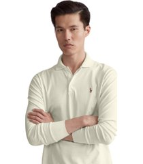 polo ralph lauren men's classic-fit long sleeve soft cotton polo