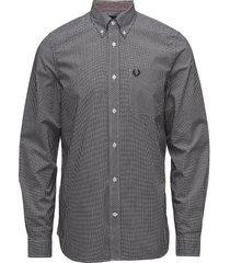 classic gingham shirt skjorta business svart fred perry