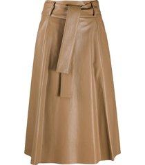 drome tie-waist a-line skirt - neutrals