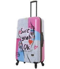 "halina nikki chalinau sure 28"" hardside spinner luggage"