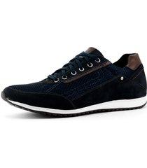 sapatãªnis casual jogger sapatofran confortã¡vel leve marinho - azul marinho - masculino - couro - dafiti