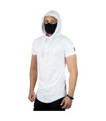 camiseta vcstilo longline capuz masculina