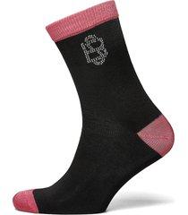 embellished sora sock lingerie socks regular socks svart becksöndergaard
