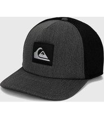 gorra gris-negro quiksilver meshpot