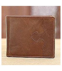 leather wallet, 'redwood classic' (india)