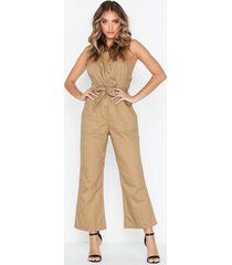 missguided dungaree asym jumpsuit jumpsuits
