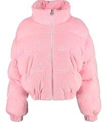 chiara ferragni velvet down jacket