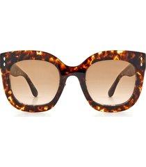 women's isabel marant 52mm gradient cat eye sunglasses - dark havana/ brown gradient