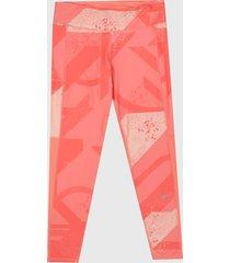 leggings coral-blanco reebok run essentials