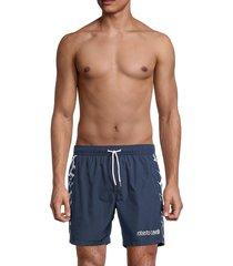 roberto cavalli men's beachwear costume logo swim shorts - navy - size m