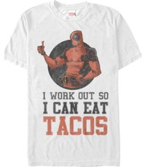 marvel men's deadpool i work out short sleeve t-shirt