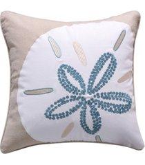 """levtex laida beach flower pillow, 18"""" x 18"""""""
