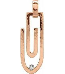 torrini designer necklaces, clips - 18k pink gold pendant with diamond