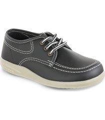 zapatos colegial bachiller negro unisex croydon