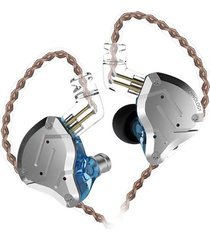 audífonos kz® zs10 pro monitores in ear alta fidelidad 5 drivers sin micrófono - azul