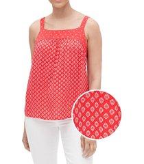blusa sin mangas bib mujer rojo gap