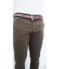 pantalón tipo chino verde militar - dpc1001