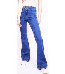 jeans verona tipo jeggings flare azul efesis