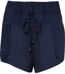 shorts rosa chá tina navy blue beachwear azul feminino (dress blues, gg)