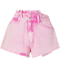 ground zero wrap denim shorts - pink
