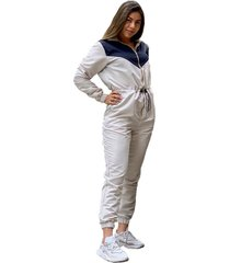 overol impermeable beige claro