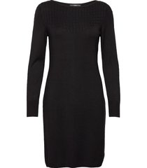 dresses flat knitted stickad klänning svart esprit collection