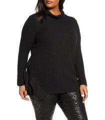 plus size women's nic+zoe west side cotton blend sweater
