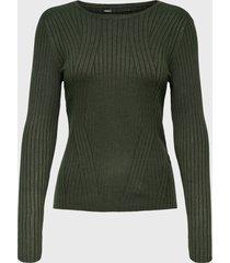 sweater only verde - calce ajustado