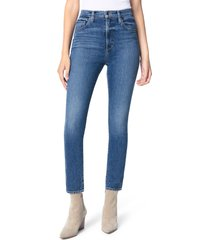 women's joe's the raine super high waist ankle slim jeans, size 24 - blue