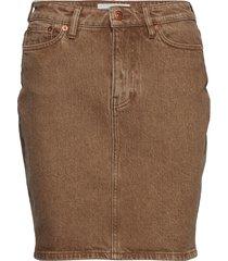 pamela skirt 12717 knälång kjol brun samsøe samsøe