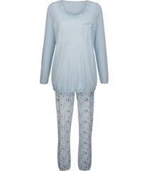 pyjama simone hemelsblauw/grijs/rozenhout